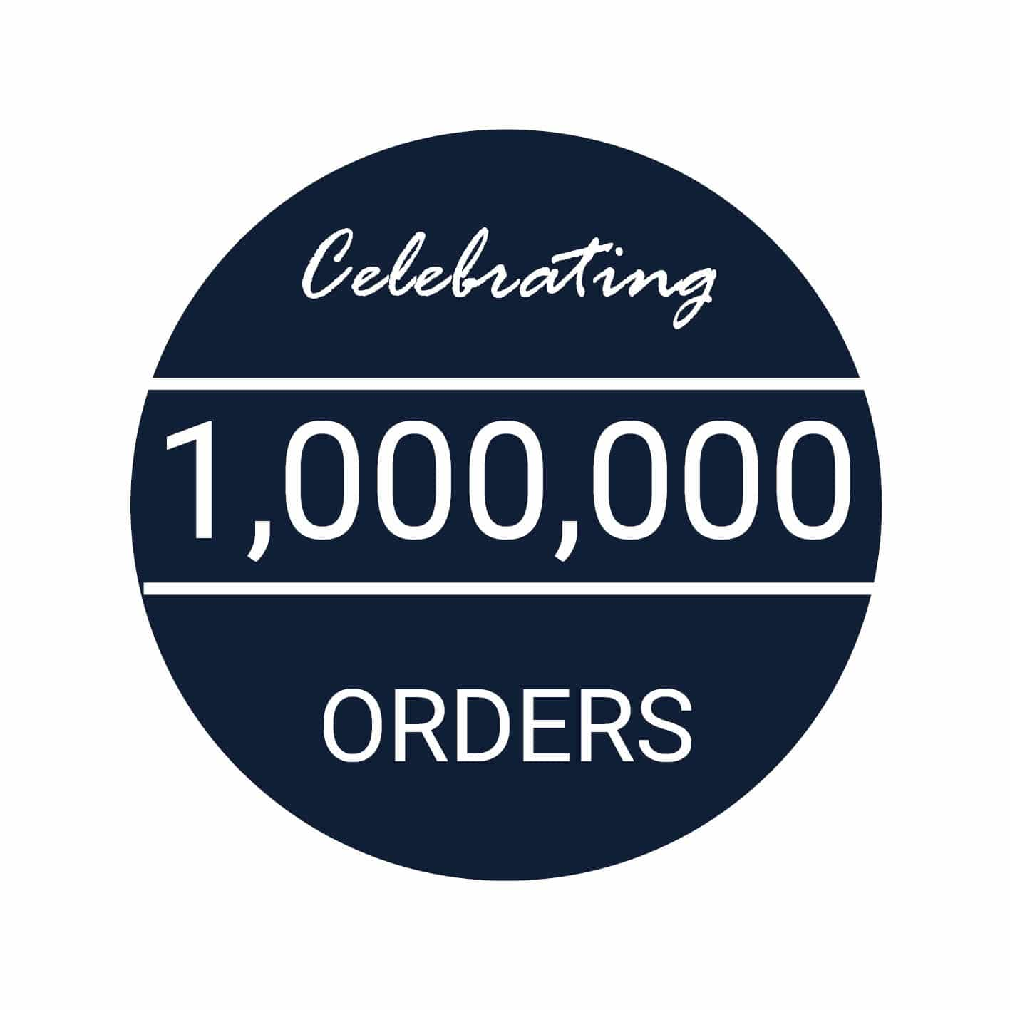 1,000,000 order badge